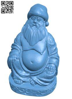 Buddha Santa Claus H001025 file stl free download 3D Model for CNC and 3d printer
