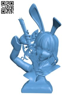 Bunny Girl Bust H000496 file stl free download 3D Model for CNC and 3d printer
