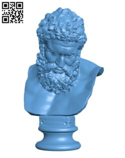 Bust of the Farnese Hercules H000816 file stl free download 3D Model for CNC and 3d printer
