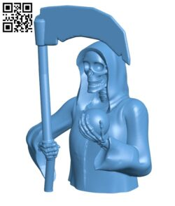 Bust of the Holy Death H000933 file stl free download 3D Model for CNC and 3d printer