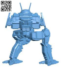 CDA-1A Cicada for Battletech – Robot H000845 file stl free download 3D Model for CNC and 3d printer