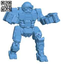 COM-TDK Commando The Death's Knell for Battletech – Robot H000554 file stl free download 3D Model for CNC and 3d printer