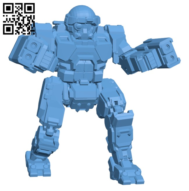 COM-TDK Commando The Death's Knell for Battletech - Robot H000554 file stl free download 3D Model for CNC and 3d printer