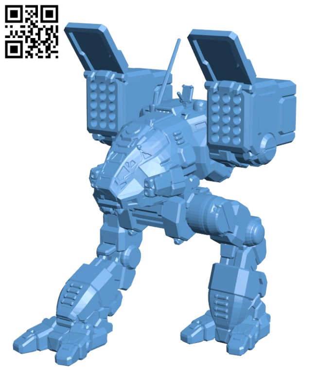 CPLT-C1 Catapult Alternative Art for Battletech - Robot H000499 file stl free download 3D Model for CNC and 3d printer
