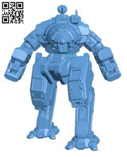 CRB-27 Crab for Battletech – Robot H000583 file stl free download 3D Model for CNC and 3d printer