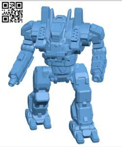 CRK-5003-0 Crockett for Battletech- Robot H000665 file stl free download 3D Model for CNC and 3d printer