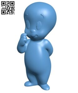 Casper the Friendly Ghost H000874 file stl free download 3D Model for CNC and 3d printer