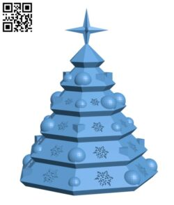 Christmas Tree Ornament H000977 file stl free download 3D Model for CNC and 3d printer