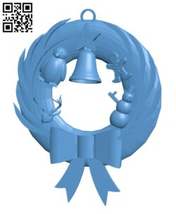 Christmas Wreath H001037 file stl free download 3D Model for CNC and 3d printer