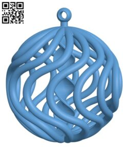 Christmas ball spiral H001085 file stl free download 3D Model for CNC and 3d printer