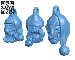 Christmas head tree decorations H000876 file stl free download 3D Model for CNC and 3d printer
