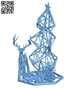 Christmas lattice Scene H001091 file stl free download 3D Model for CNC and 3d printer