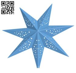 Christmas star H000972 file stl free download 3D Model for CNC and 3d printer