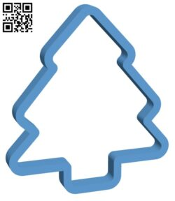 Christmas tree cookie cutter H001093 file stl free download 3D Model for CNC and 3d printer