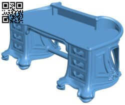 Classic table model A006626 download free stl files 3d model for CNC wood carving