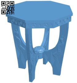 Classic table model A006628 download free stl files 3d model for CNC wood carving