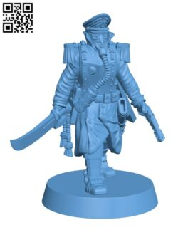 Commissar of the Imperial Force H000523 file stl free download 3D Model for CNC and 3d printer