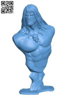 Conan the Barbarian bust H000582 file stl free download 3D Model for CNC and 3d printer