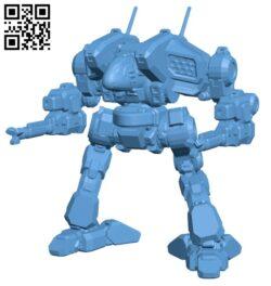 Cougar Prime for Battletech – Robot H000664 file stl free download 3D Model for CNC and 3d printer