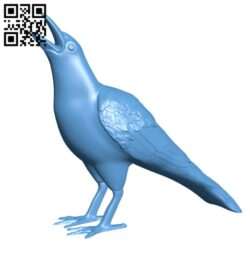 Crow H000555 file stl free download 3D Model for CNC and 3d printer