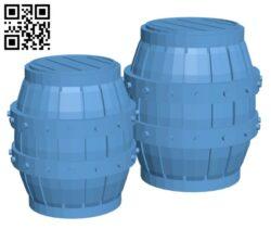 Delving Decor – Medieval Barrels H000696 file stl free download 3D Model for CNC and 3d printer