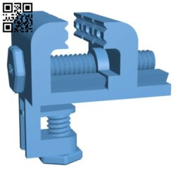 Desk – Table Mount Hobby Vice Fully 3D Printable H000525 file stl free download 3D Model for CNC and 3d printer