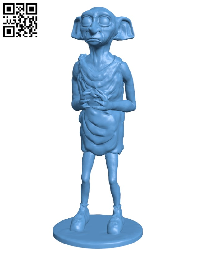 Dobby the Elf H000557 file stl free download 3D Model for CNC and 3d printer