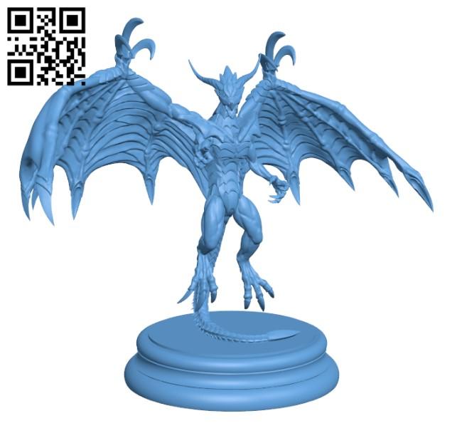 Dragon bahamut H000636 file stl free download 3D Model for CNC and 3d printer