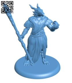 Dragonborn sorceress H000847 file stl free download 3D Model for CNC and 3d printer