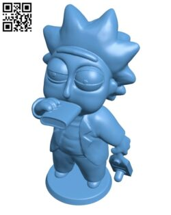 Drunk Tiny Rick H000849 file stl free download 3D Model for CNC and 3d printer