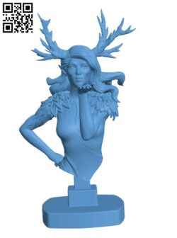Dryad bust H000823 file stl free download 3D Model for CNC and 3d printer