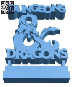 Dungeons and Dragons Ornament H000877 file stl free download 3D Model for CNC and 3d printer