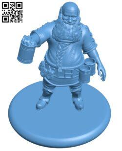 Dwarf Brewer H000878 file stl free download 3D Model for CNC and 3d printer