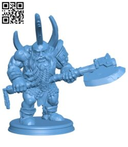 Dwarf with hammer H000824 file stl free download 3D Model for CNC and 3d printer