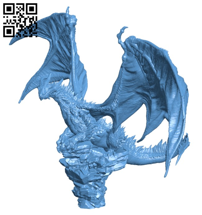 Elder Drake - Gloomhaven proxy H000559 file stl free download 3D Model for CNC and 3d printer