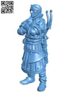 Elven archer. Elf commando H000760 file stl free download 3D Model for CNC and 3d printer