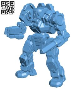 Executioner Prime, aka Gladiator for Battletech – Robot H000700 file stl free download 3D Model for CNC and 3d printer
