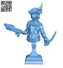 Fantasy Elf Bust H000825 file stl free download 3D Model for CNC and 3d printer