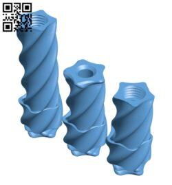 Fidget Twisters H000638 file stl free download 3D Model for CNC and 3d printer