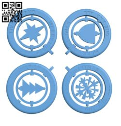 Flat pack christmas baubles H001038 file stl free download 3D Model for CNC and 3d printer
