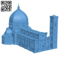 Florence Cathedral H000560 file stl free download 3D Model for CNC and 3d printer
