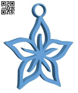 Flower earrings H000852 file stl free download 3D Model for CNC and 3d printer