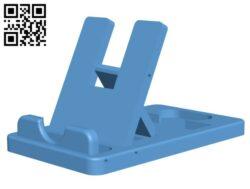 Folding Phone Holder H000879 file stl free download 3D Model for CNC and 3d printer