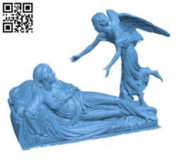 Funerary Monument of comtess Louise de Celles H000611 file stl free download 3D Model for CNC and 3d printer