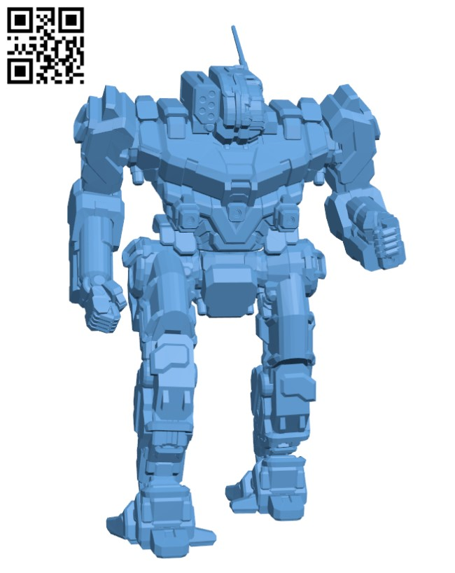 GHR-5H Grasshopper for Battletech - Robot H000703 file stl free download 3D Model for CNC and 3d printer