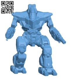 GLT-3N Guillotine for Battletech – Robot H000910 file stl free download 3D Model for CNC and 3d printer