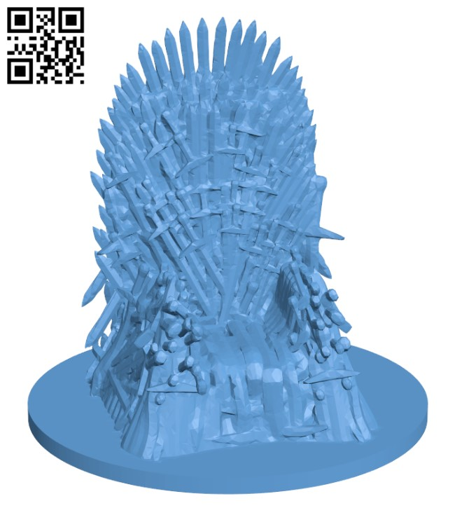 Game of Thrones - Iron Throne H000853 file stl free download 3D Model for CNC and 3d printer