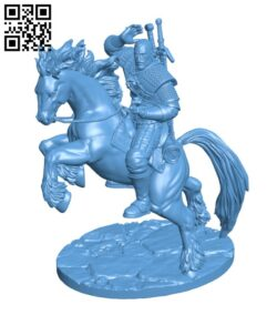 Geralt the Witcher H000729 file stl free download 3D Model for CNC and 3d printer