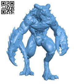 Glabrezu H000762 file stl free download 3D Model for CNC and 3d printer