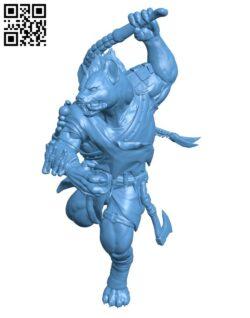 Gnoll H000828 file stl free download 3D Model for CNC and 3d printer